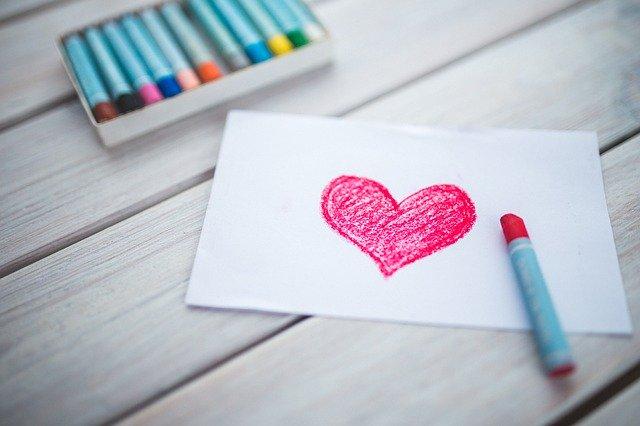 לצייר לב